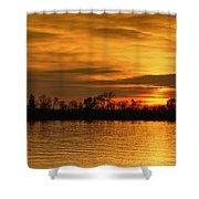 Sunset - Ohio River Shower Curtain by Sandy Keeton