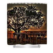 Sunset On A Texas Drought Shower Curtain