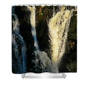 Sunset On A Waterfall Shower Curtain