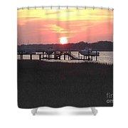 Sunset On Broad Creek II Shower Curtain