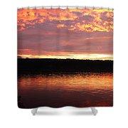 Sunset On Cayuga Lake Cornell Sailing Center Ithaca New York II Shower Curtain