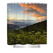 Sunset On Clingman's Dome Shower Curtain