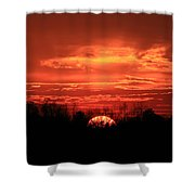 Sunset On Fire  Shower Curtain