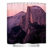 Sunset On Half Dome As Seen Shower Curtain