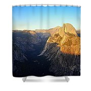 Sunset On Half Dome In Yosemite Shower Curtain