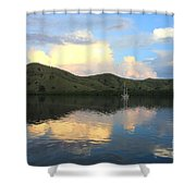 Sunset On Komodo Shower Curtain