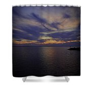 Sunset On Lake Poygan 1 Shower Curtain