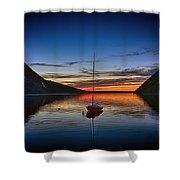 Sunset On Lake Willoughby Shower Curtain