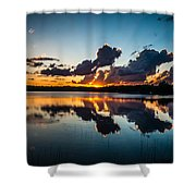 Sunset On Little Pine Lake Shower Curtain