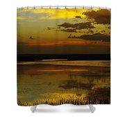 Sunset On Medicine Lake Shower Curtain