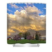 Sunset On Mixed Clouds Shower Curtain