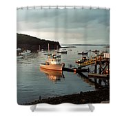 Sunset On Mount Desert Island Maine Shower Curtain