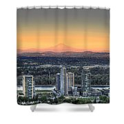 Sunset On Mount Hood Shower Curtain