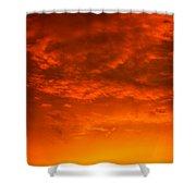 Orange Cloud Sunset Shower Curtain