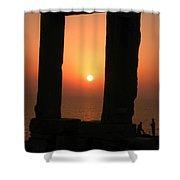 Sunset On Naxos Island Greece  Shower Curtain