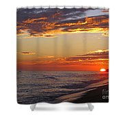 Sunset On Newport Beach Shower Curtain