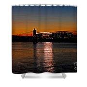 Sunset On Paul Brown Stadium Shower Curtain