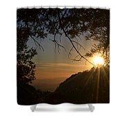 Sunset On San Jacinto Shower Curtain