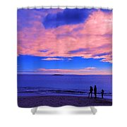 Sunset On Sand Beach Acadia National Park Maine Shower Curtain