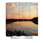 Sunset On Sandpiper Pond Shower Curtain