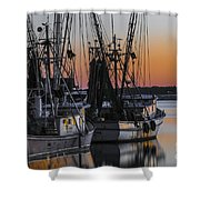 Shem Creek Sunset - Charleston Sc Shower Curtain
