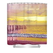 Sunset On Tahiti Shower Curtain