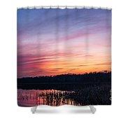 Sunset On Teeple Lake Shower Curtain