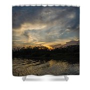 Sunset On The Amazon 1 Shower Curtain