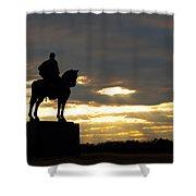 Sunset On The Battlefield Shower Curtain
