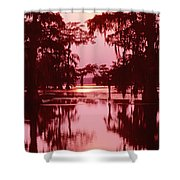 Sunset On The Bayou Atchafalaya Basin Louisiana Shower Curtain