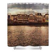 Sunset On The Boardwalk Walt Disney World Shower Curtain