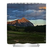 Sunset On The Butte Shower Curtain