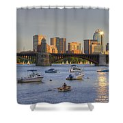Sunset On The Charles Shower Curtain