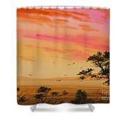 Sunset On The Coast Shower Curtain