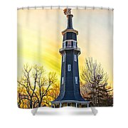 Sunset On The Dwight Windmill Shower Curtain