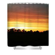 Sunset On The Edge Of Town Shower Curtain