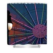 sunset on the Ferris wheel Shower Curtain