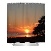 Sunset On The Florida Gulf Shower Curtain