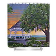 Sunset On The Gazeebo Shower Curtain