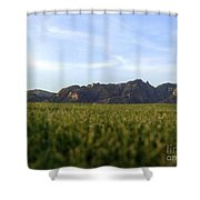 Sunset On The Golf Course Shower Curtain