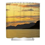 Sunset On The Gulf Of Alaska Shower Curtain