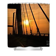 Sunset On The High Rise Shower Curtain