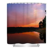 Sunset On The Kennebec River Shower Curtain