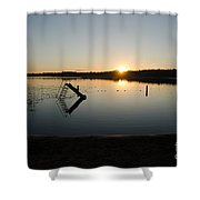Sunset On The Lake 3 Shower Curtain