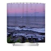 Sunset On The Marginal Way In Ogunquit Maine Shower Curtain