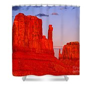 Sunset On The Mittens Shower Curtain