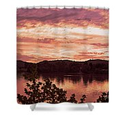 Sunset On The Ohio River  Shower Curtain