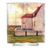 Sunset On The Old Farm House Shower Curtain