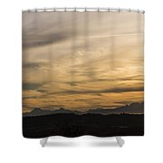 Sunset On The Olympics Shower Curtain