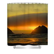 Sunset On The Oregon Coast Shower Curtain